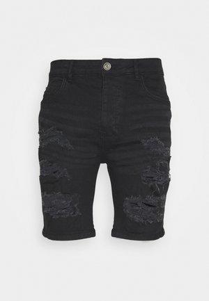 DROGO - Jeansshorts - charcoal