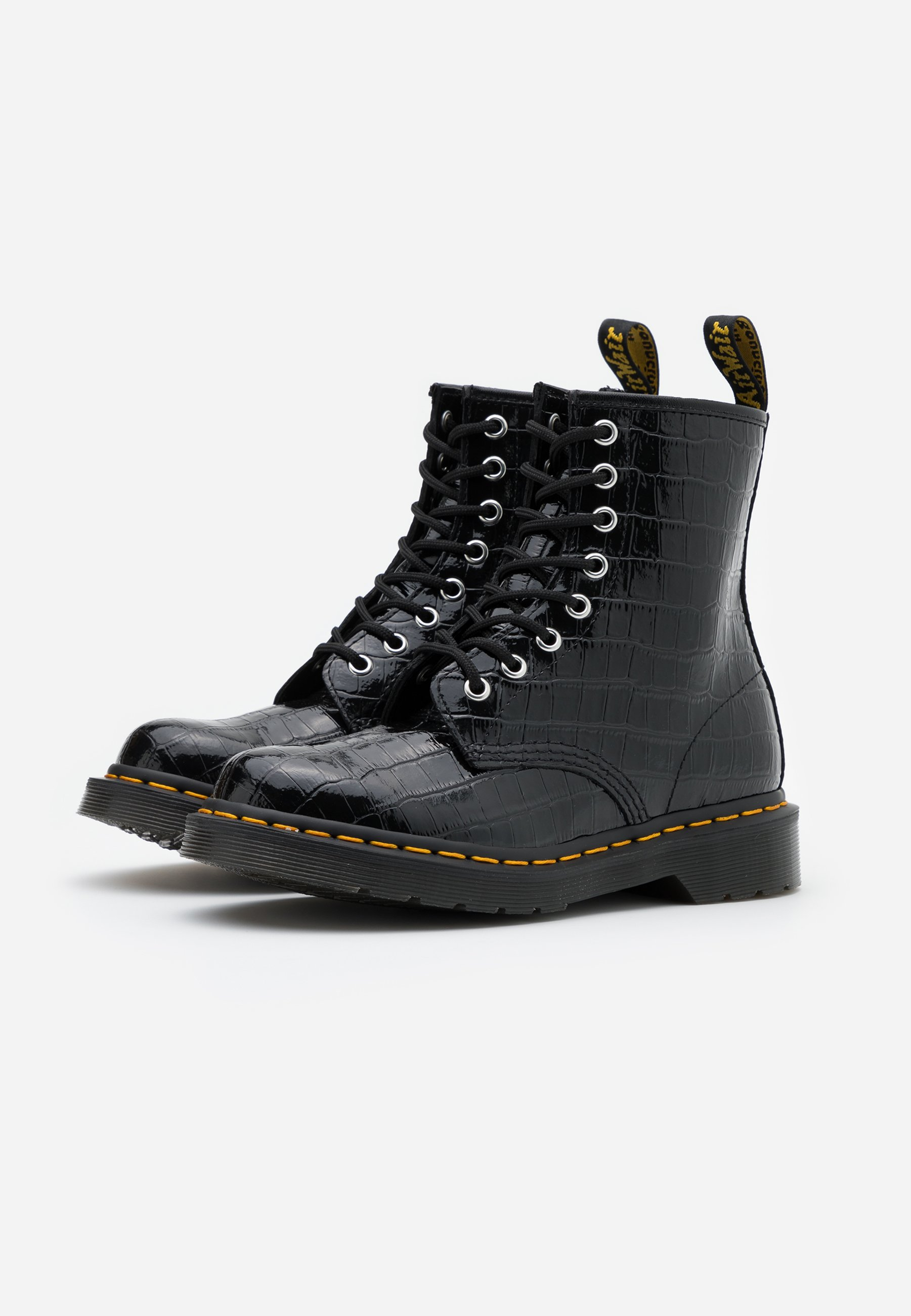 Inexpensive Order Women's Shoes Dr. Martens 1460 PASCAL Lace-up ankle boots black noDFsuO7x wiEqsytQ0