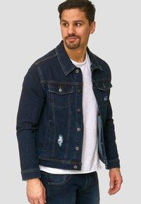 INDICODE JEANS - BRYNE - Denim jacket - dark-blue denim - 3