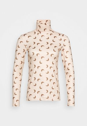PCNALA PRINT TURTLE NECK - Long sleeved top - nude/brown
