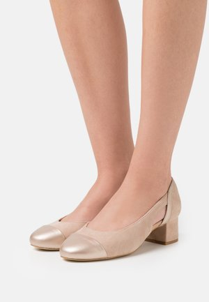 LEATHER - Klassiske pumps - nude/gold