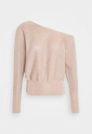 TIPPED SHOULDER - Sweter - soft gold