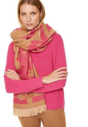AUS DOUBLEFACE-WEBWARE - Scarf - woven flower camel