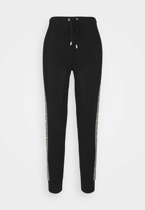 LOGO TAPE JOGGER - Tracksuit bottoms - black