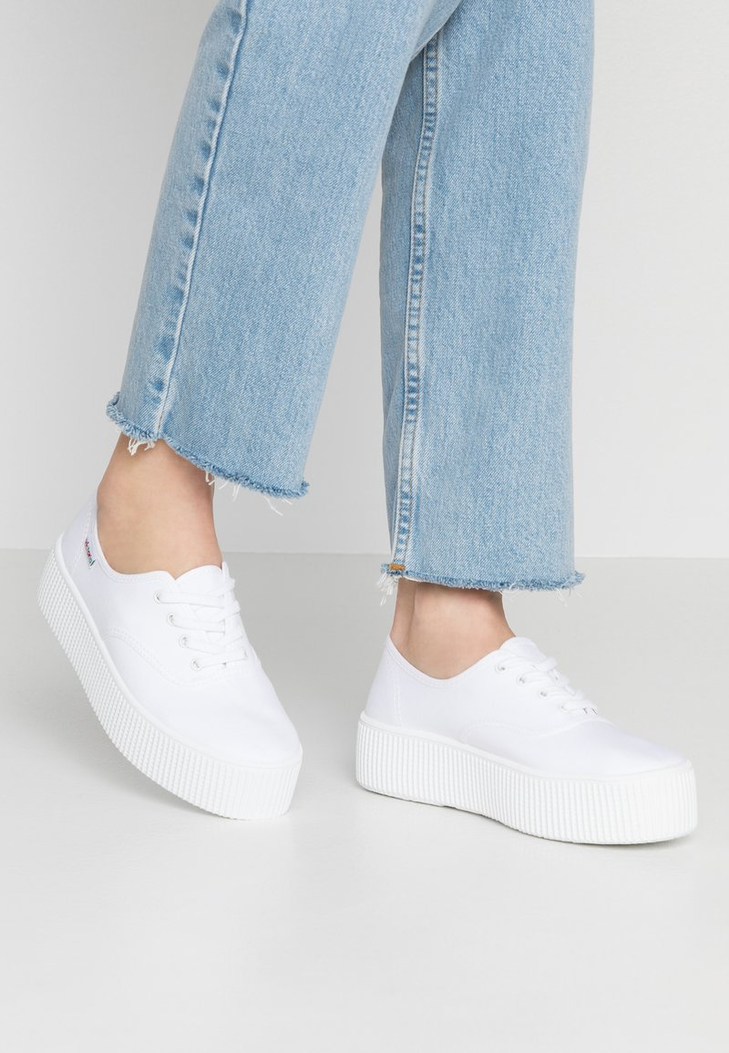 Victoria Shoes - DOBLE LONA - Trainers - blanco