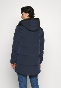 Calvin Klein - CRINKLE LONG LENGTH JACKET - Winter coat - blue - 2