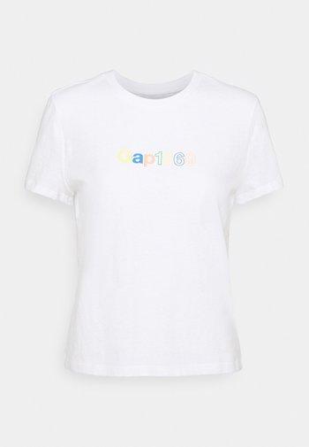 SHRUNKEN TEE - T-shirts med print - fresh white