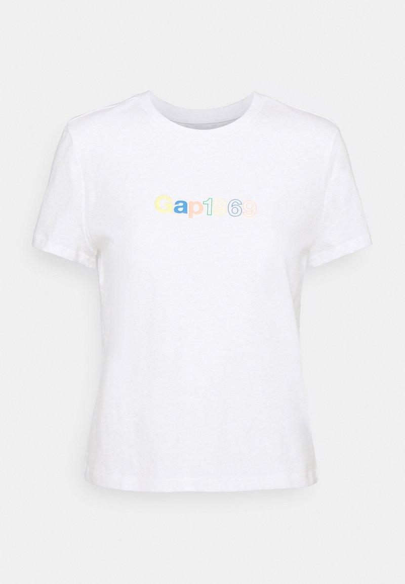 GAP - SHRUNKEN TEE - Print T-shirt - fresh white