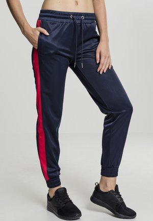 Tracksuit bottoms - dark blue/red
