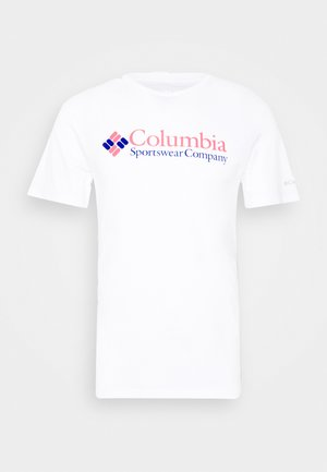 BASIC LOGO SHORT SLEEVE - Print T-shirt - white