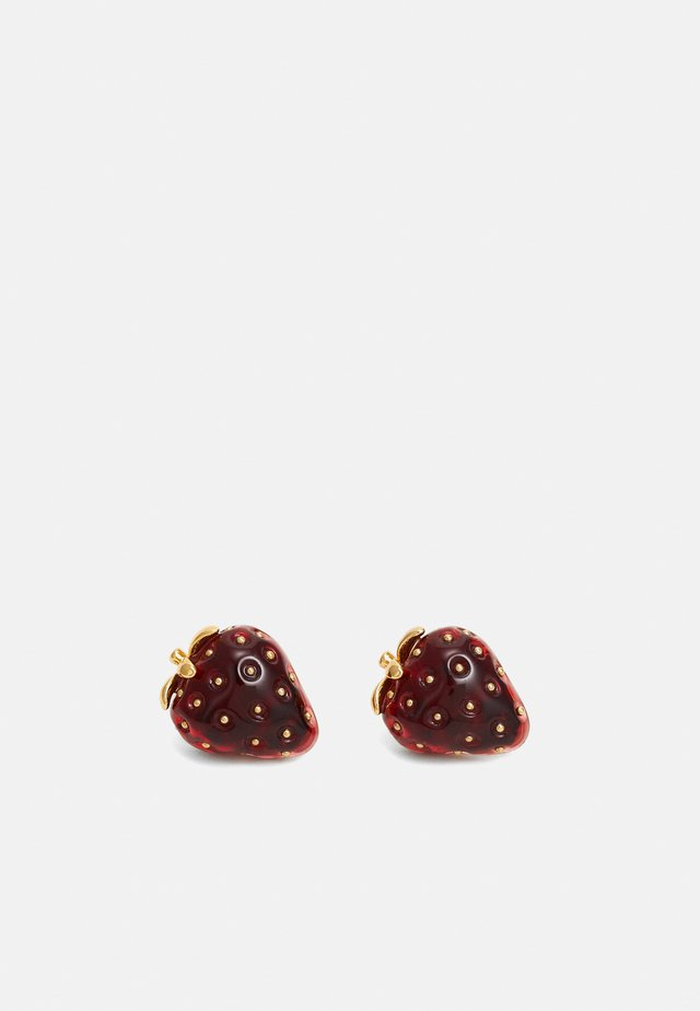 TUTTI FRUITY STRAWBERRY STUDS - Náušnice - red