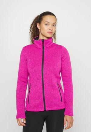 WOMEN JACKET - Fleece jacket - sangria purple fluo