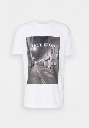 ALLEYWAY - Print T-shirt - white