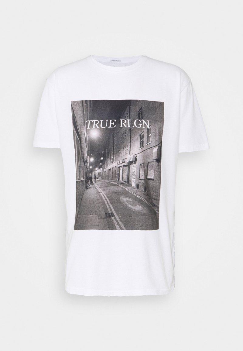 True Religion - ALLEYWAY - Triko spotiskem - white