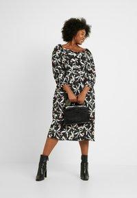 Glamorous Curve - ORIENTAL FLORAL MILKMAID DRESS - Day dress - oriental - 2