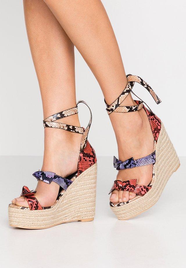 TINKER - Platform sandals - multicolor