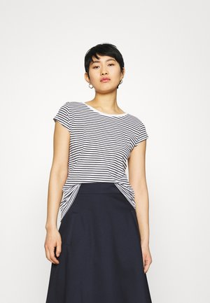 FAVORITE STRIPE TEASY - Print T-shirt - white/black