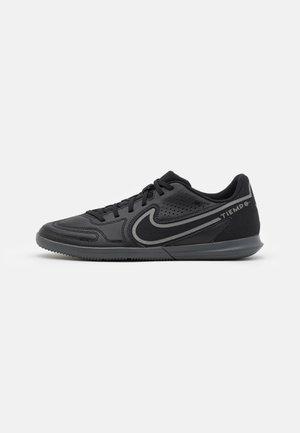 TIEMPO LEGEND 9 CLUB IC - Indoor football boots - black/iron grey/metallic bomber grey