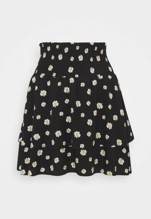 DAPHNE DAISY TWO LAYER SKIRT  - Minihame - black