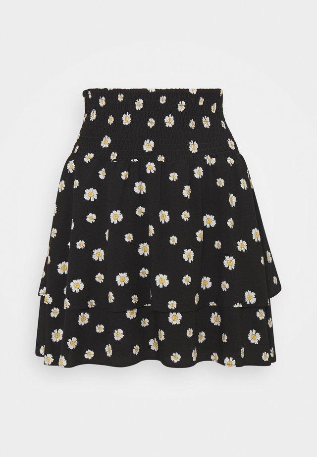 DAPHNE DAISY TWO LAYER SKIRT  - Mini skirt - black
