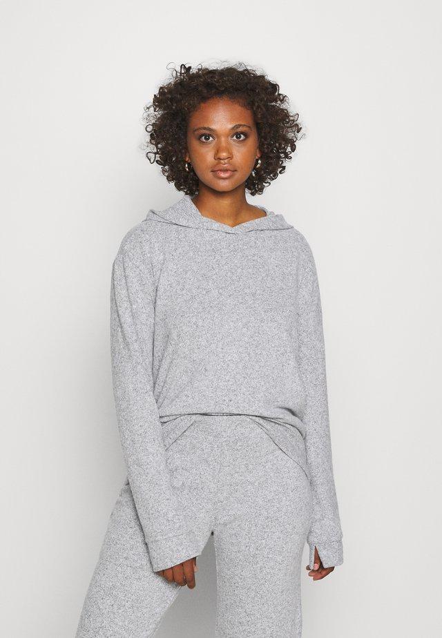ALICIA - Felpa con cappuccio - grey melange