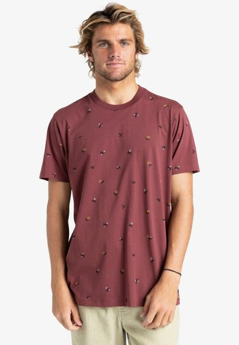 SUNDAYS - Print T-shirt - oxblood