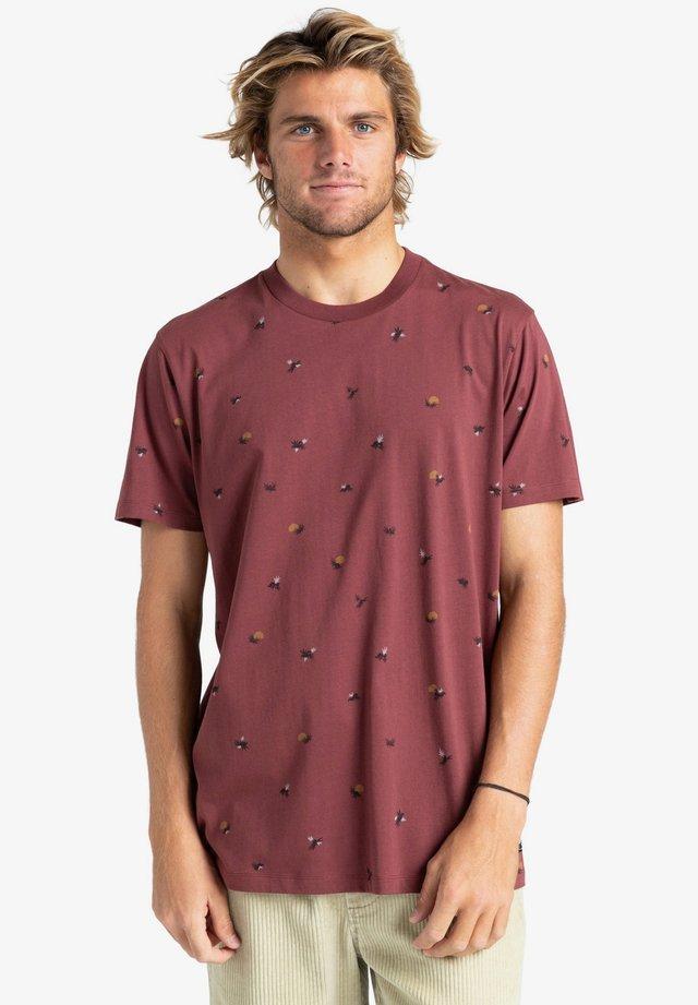 SUNDAYS - T-shirt con stampa - oxblood