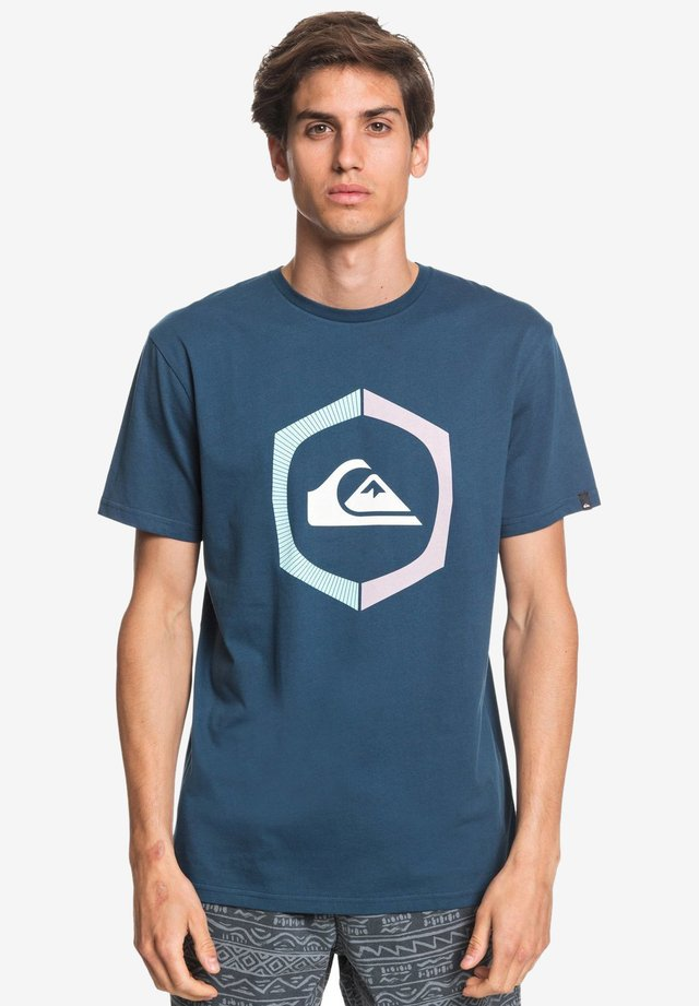 SURE THING - Print T-shirt - majolica blue