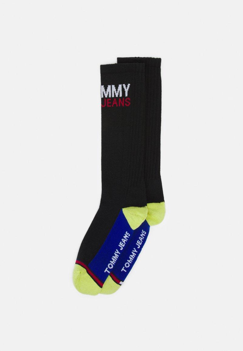Tommy Jeans - VINTAGE CUT SOCKS 2 PACK UNISEX - Ponožky - black/yellow