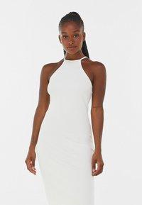 Bershka - Robe pull - white - 3