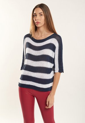Jersey de punto - azul marino, blanco