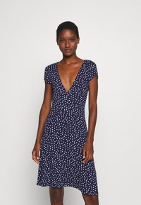 Anna Field - Jersey dress - maritime blue/white - 0