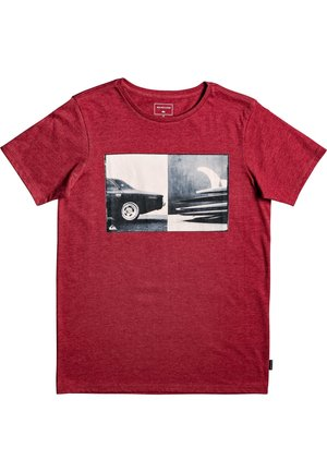 QUIKSILVER™ HIGH SPEED PURSUIT - T-SHIRT FÜR JUNGEN 8-16 EQBZT04 - T-shirt print - garnet heather