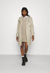 JDY - JDYWHITNEY MEGAN BOAT DRESS - Jumper dress - beige - 1