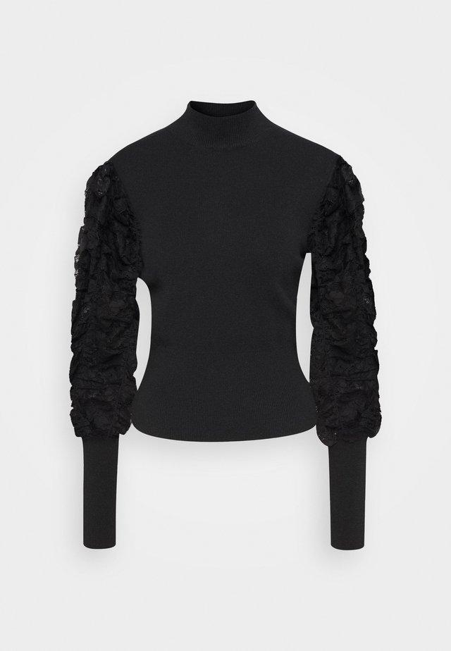 BANDANA PULL - Strickpullover - black