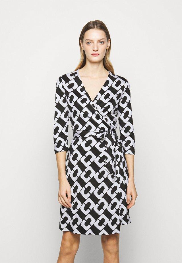 NEW JULIAN TWO - Žerzejové šaty - black/white