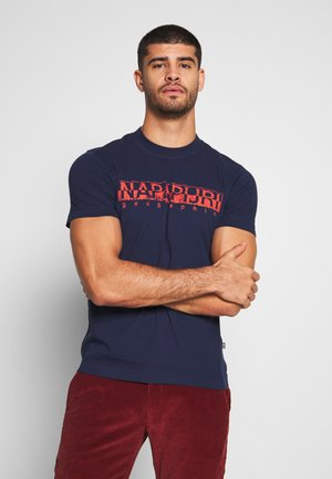 SOLANOS - T-shirt con stampa - medieval blue