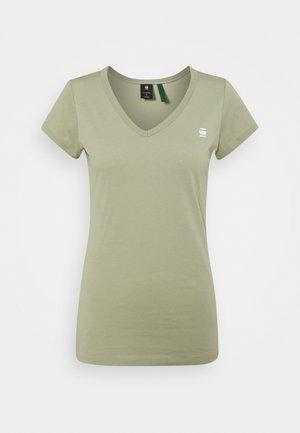 EYBEN SLIM - Print T-shirt - grege green