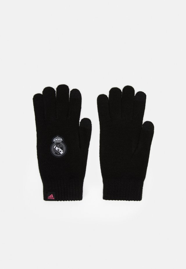 REAL MADRID SPORTS FOOTBALL GLOVES UNISEX - Sormikkaat - black/white