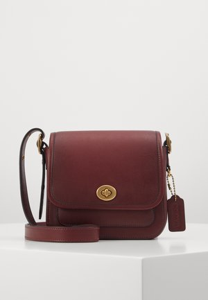 GLOVETANNED RAMBLER CROSSBODY - Skulderveske - light maroon