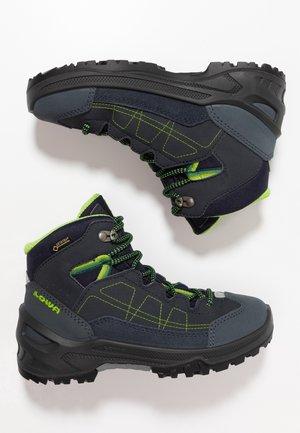 APPROACH GTX MID JUNIOR - Vysoká chodecká obuv - navy/limone