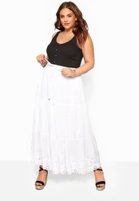 Yours Clothing - Maxi skirt - white - 1