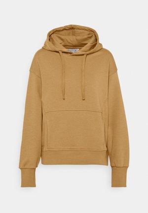 MINIMAL HOODIE - Sweatshirt - camel