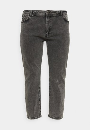 NMOLIVIA - Straight leg jeans - dark grey denim