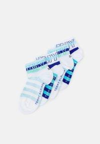 Tommy Hilfiger - KIDS QUARTER WORDING 4 PACK UNISEX - Socks - blue combo - 0