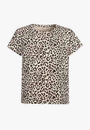 LEOPARD GRAPHIC  - Print T-shirt - natural brown