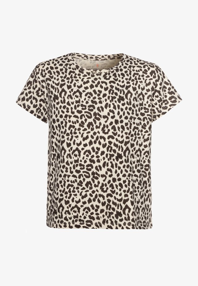 LEOPARD GRAPHIC  - Camiseta estampada - natural brown