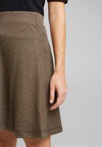 Esprit - FLARED  - A-line skirt - camel - 3