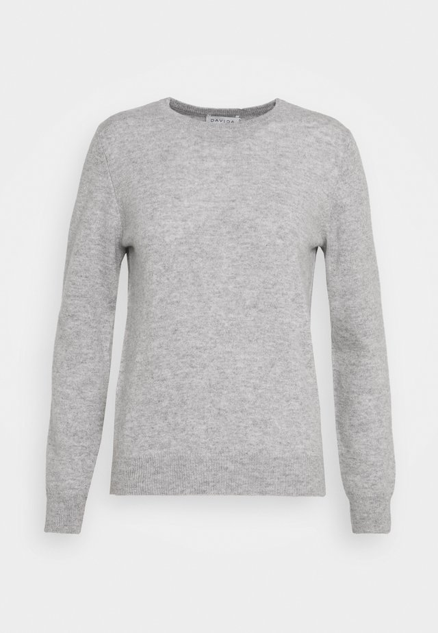 BASIC - Stickad tröja - light grey