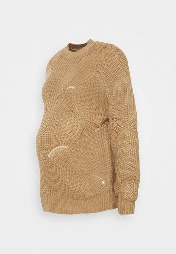PCMBENITA ONECK - Sweter - natural